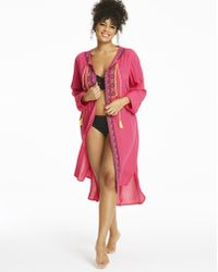 Simply Be - Simply Yours Embroidered Tie Kimono - Lyst
