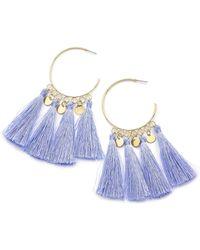 Simply Be - Tassel Hoop Earrings - Lyst