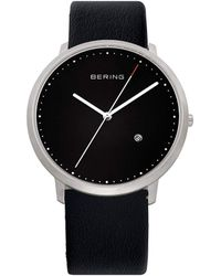 Bering - Gents Black Dial Strap Watch - Lyst
