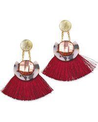 Simply Be - Disc Tassel Earrings - Lyst
