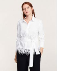 Violeta by Mango - Belted Feathers Blouse - Lyst