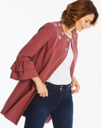 Simply Be - Fluted Sleeve Jacket With Embellishment - Lyst