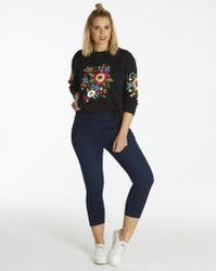 Simply Be - Embroidered Sweatshirt - Lyst