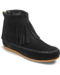 b27e7459a5d9 Lyst - Sam Edelman Rudie Fringed Suede Ankle Boots in Brown
