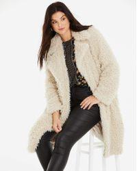 Vero Moda - Oversized Teddy Coat - Lyst