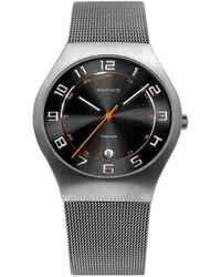 Bering - Gents Mesh Bracelet Watch - Lyst