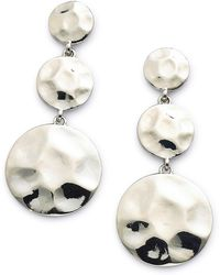 Simply Be - Tiered Drop Earring - Hammered - Lyst