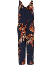 Monsoon - Hana Palm Leaves Romper - Lyst