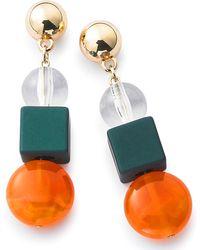 Simply Be - Resin Mixed Bead Earrings - Lyst