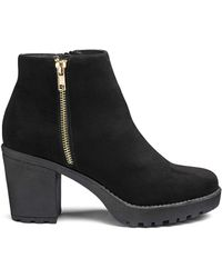 1baa530c63f0 Simply Be Kate Chunky Boot Eee Fit in Gray - Lyst