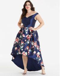Chi Chi London - London Dip Back Floral Dress - Lyst