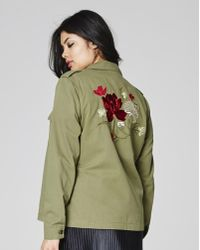Womens Shacket With Embroidery Simply Be
