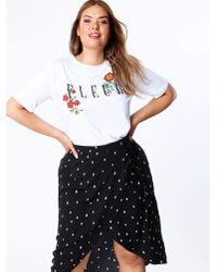 Huit - Koko Polka Dot Wrap Skirt - Lyst
