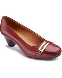 Clarks - Fearne Shine Court Shoes E Fit - Lyst