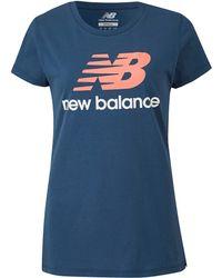 New Balance - Logo Tee - Lyst
