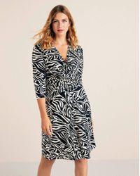 Violeta by Mango - Zebra Print Dress - Lyst