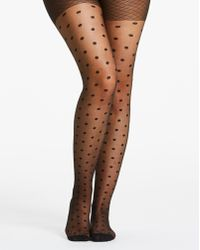 160b23a33d205 Gold. $6. ASOS. Simply Be - Naturally Close 1 Pack Spot Mesh Pantyhose -  Lyst