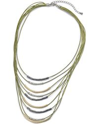 Simply Be - Cord And Metal Row Necklace - Lyst