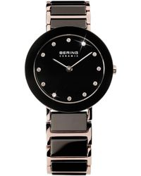 Bering - Ladies Black Bracelet Watch - Lyst