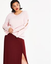 Simply Be - Bow Sleeve Sweater - Lyst