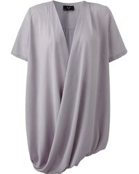 AX Paris - Curve Wrap Tunic Top - Lyst