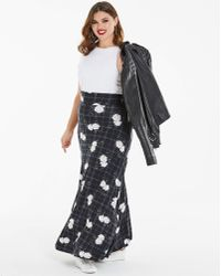 Disney - Floral Print Stretch Jersey Maxi Skirt - Lyst