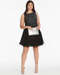AX Paris - Curve Sequin Skater Dress - Lyst