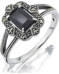Simply Be - Sterling Silver And Onyx Ring - Lyst