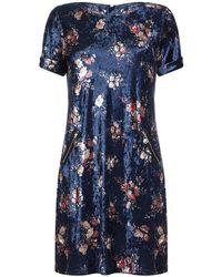 Huit - Yumi Curves Velvet Tunic Dress - Lyst