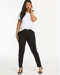 7662115d00f Simply Be Chloe Ripped Knee Skinny Jeans Long in Black - Lyst