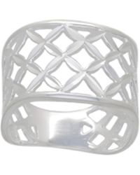 Simply Be - Sterling Silver Lattice Ring - Lyst