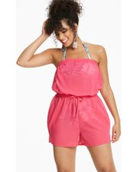 Simply Yours - Pink Beach Playsuit - Lyst