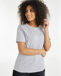 Simply Be - Grey Marl Perfect Slim Fit T-shirt - Lyst