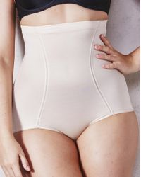 561493581d7 Lyst - Flexees By Maidenform Firm Control Hi-waist Brief in Natural