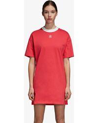 3478fa775d2 adidas Originals - Adicolor 3-stripe Dress - Lyst