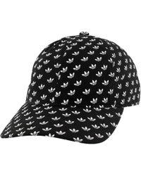 4dd2a520 adidas Original Trefoil Mens Faux Leather Snapback Hat in Black for Men -  Lyst