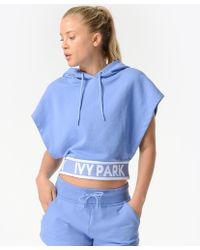 Ivy Park - Flatknit Backless Hoodie - Lyst