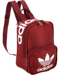 968002ef41 Lyst - adidas Originals Classic Velour Backpack in Red