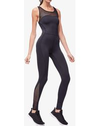 07551c9e74e Lyst - BoomBoom Athletica Performance Mesh Panel Jumpsuit in Black