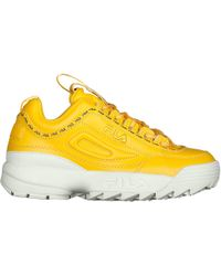 Fila - Yellow Taped Logo Disruptor 2 Premium Trainers - Lyst