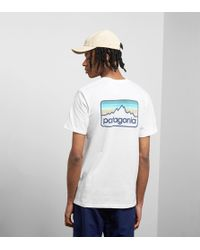 Patagonia - Line Logo Badge Responsibili- T-shirt - Lyst