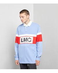 Lost Management Cities - Retro Rugby Long Sleeved Polo Shirt - Lyst