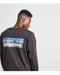 Patagonia - Long-sleeved P-6 Logo T-shirt - Lyst