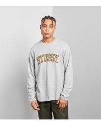 Stussy - Long Sleeve Kent Football Jersey Tee - Lyst