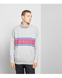 Obey - Palisade Mock Neck Zip - Lyst