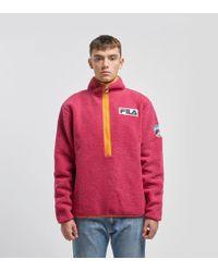 Fila - Sella Sherpa Half-zip Fleece Jacket - Lyst