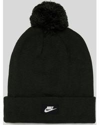 Nike - Red Pom Beanie - Lyst