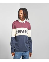 Levi's - Levis Mighty Blocked Rugby Polo Shirt - Lyst