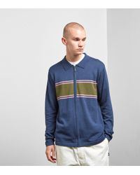 Stussy - Cody Stripe Long Sleeved Polo Shirt - Lyst