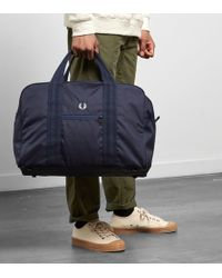 Fred Perry - Twill Check Holdall - Lyst